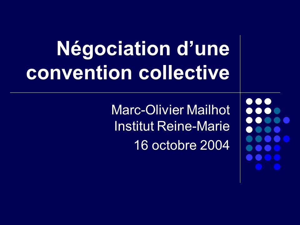 Ordre du jour Négociation dune convention collective Partie A: Consignes Mise en situation Règles de fonctionnement Évaluation Partie B: Clauses à négocier Les sujets traités Exemples de clauses Partie C: Correction