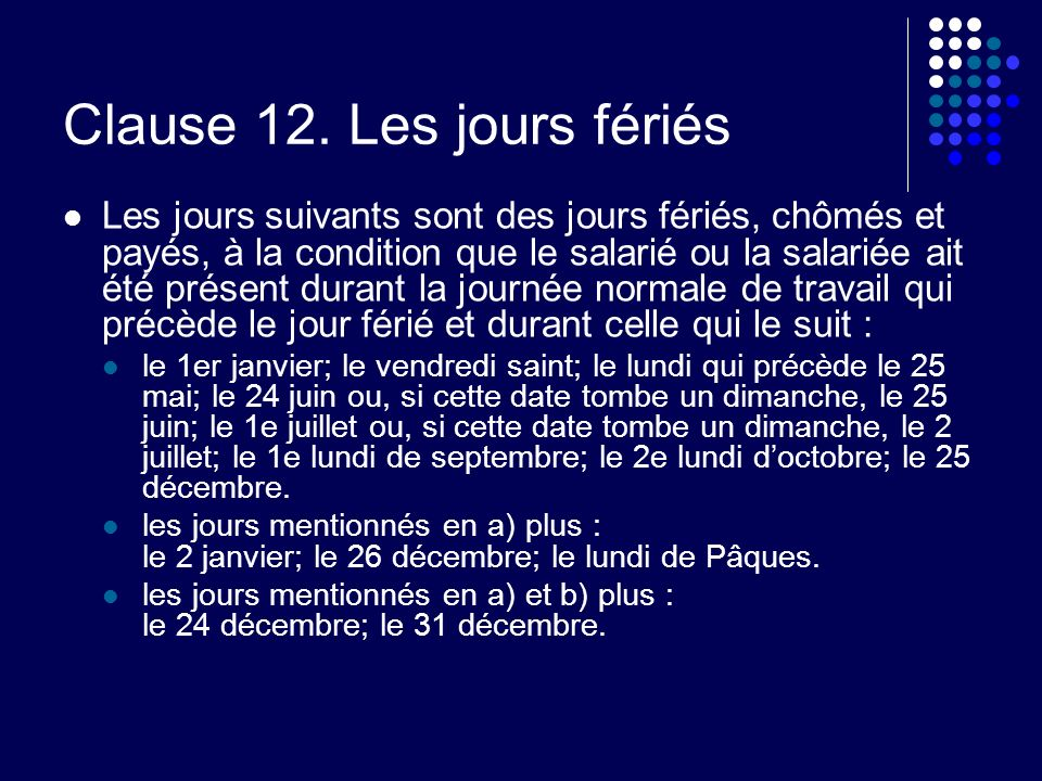 Clause 12.