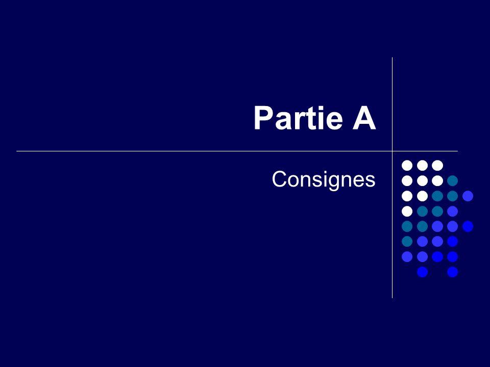 Partie A Consignes