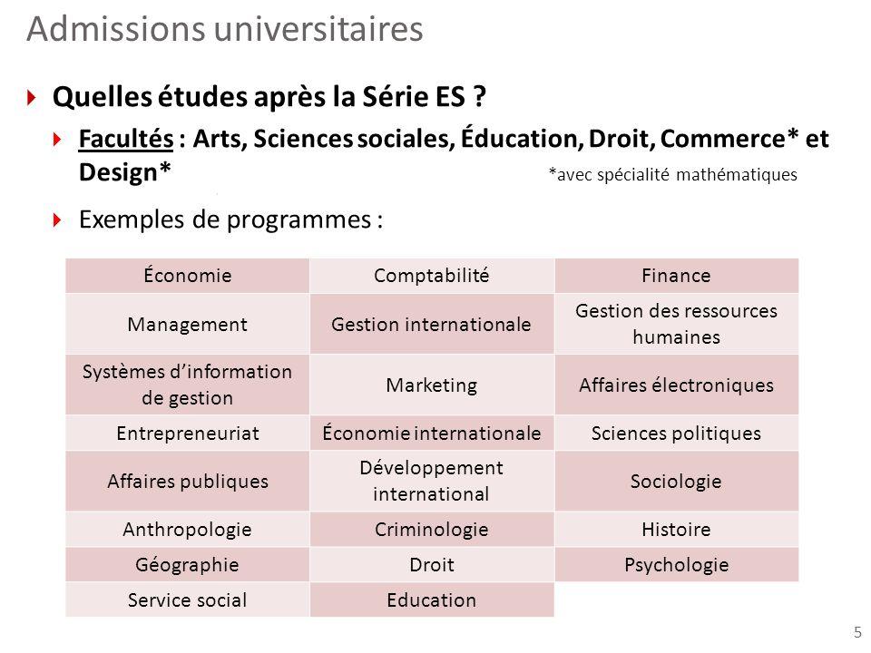 Admissions universitaires Quelles études après la Série S .