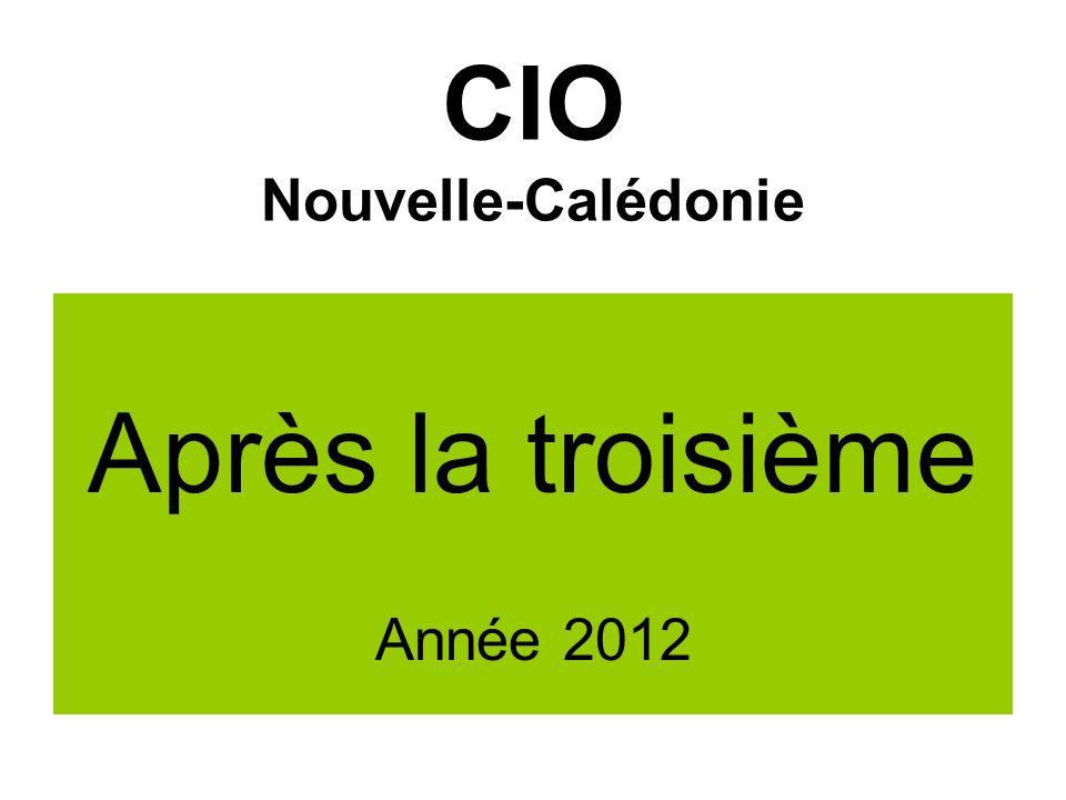 CIO Nouvelle-Calédonie Après la troisième Année 2012