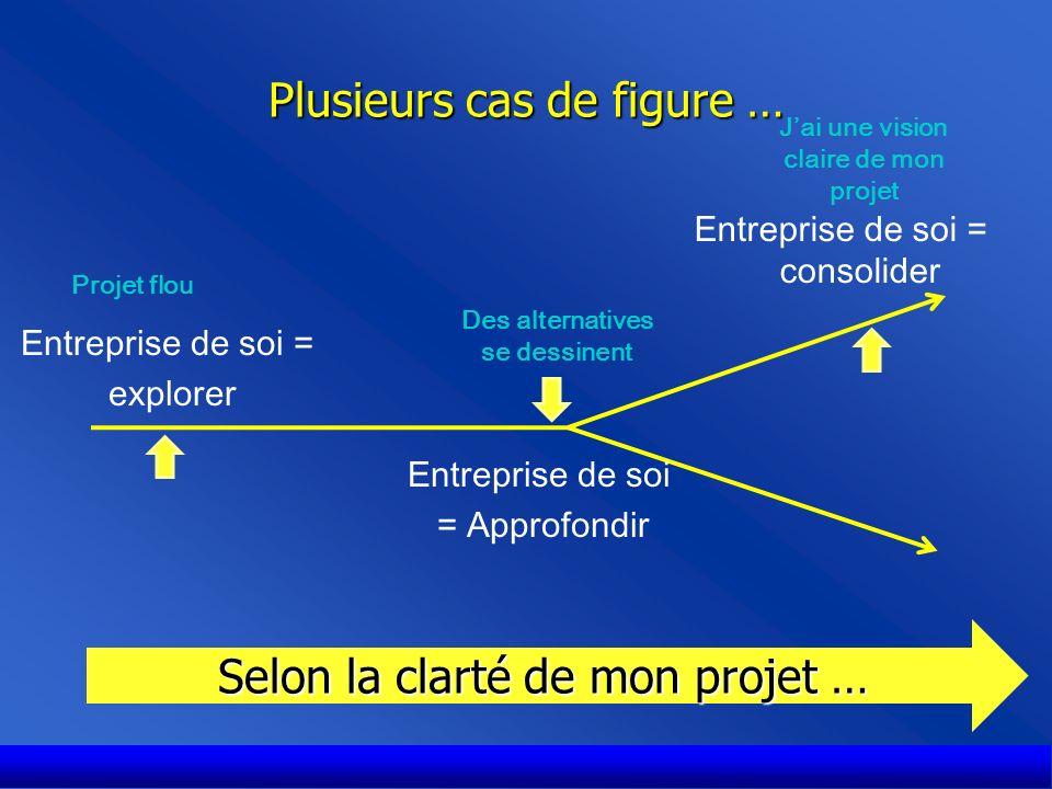 Plusieurs cas de figures … Cas 1: Enterprise = explorer Je ne sais pas ce que je souhaite faire.