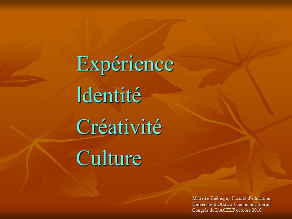 Expérience Identité Créativité Culture