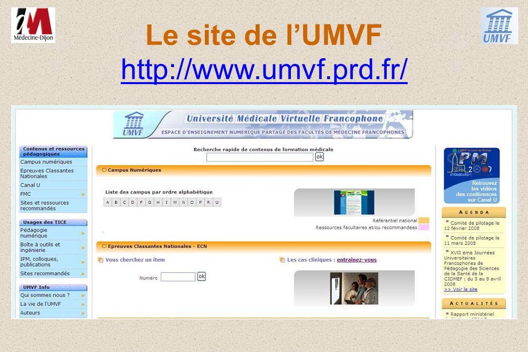 Le site de lUMVF http://www.umvf.prd.fr/ http://www.umvf.prd.fr/