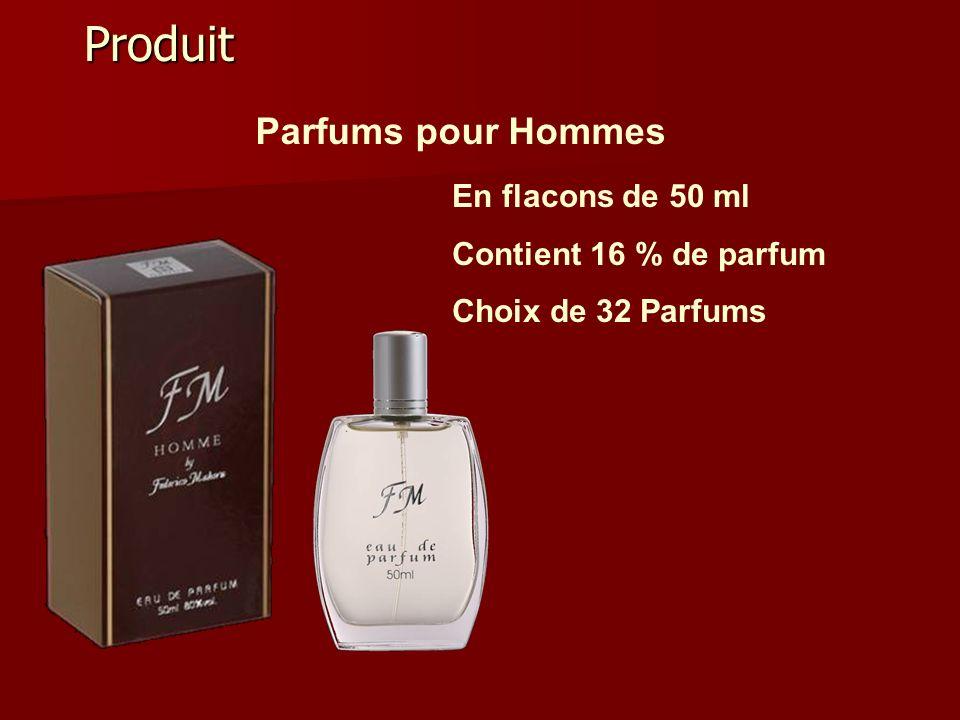 Produit Parfums pour Hommes En flacons de 50 ml Contient 16 % de parfum Choix de 32 Parfums