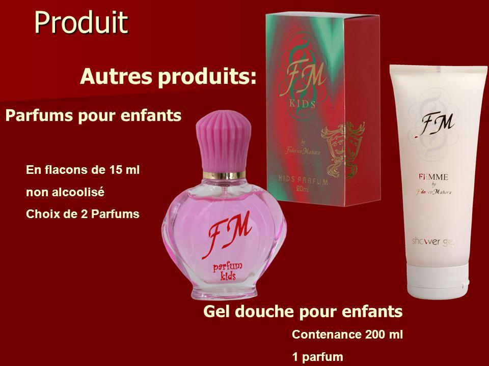 Produit Autres produits: Parfums pour enfants Gel douche pour enfants En flacons de 15 ml non alcoolisé Choix de 2 Parfums Contenance 200 ml 1 parfum