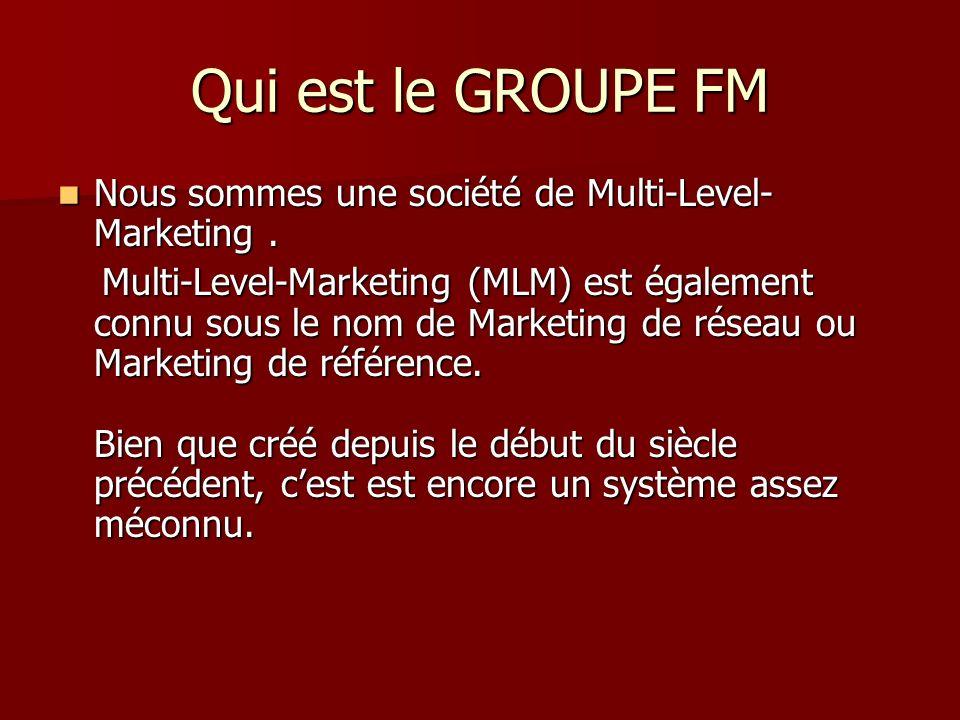 La croissance du GROUPE FM Montre lannée dintroduction du groupe FM dans chaque pays.