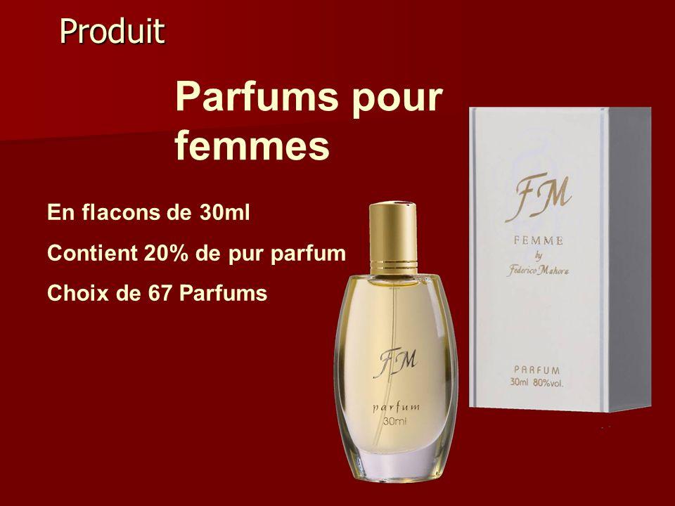 Produit Parfums pour femmes En flacons de 30ml Contient 20% de pur parfum Choix de 67 Parfums