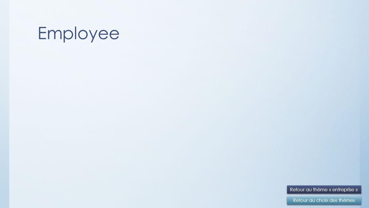 Employee Retour au choix des thèmes Retour au thème « entreprise »