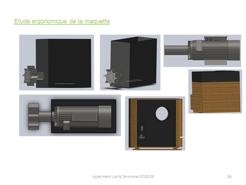 Lycée Henri Loritz Termional STI2D EE24 Etude ergonomique de la maquette