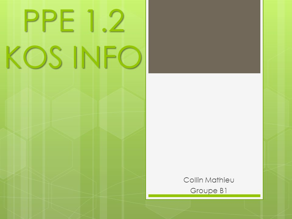 Collin Mathieu Groupe B1 PPE 1.2 KOS INFO