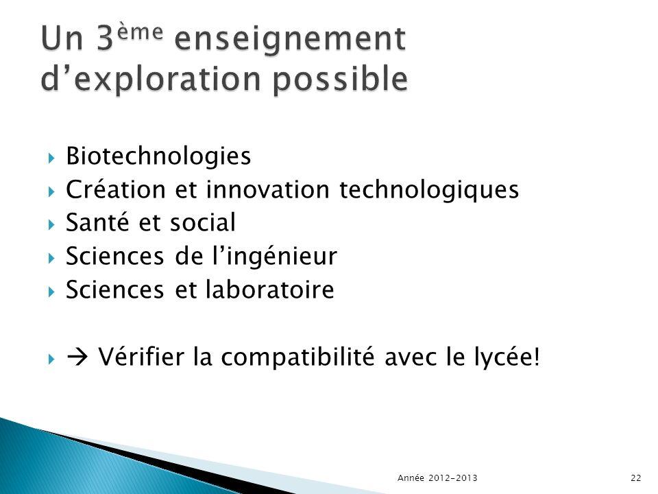 Biotechnologies Création et innovation technologiques Santé et social Sciences de lingénieur Sciences et laboratoire Vérifier la compatibilité avec le lycée.