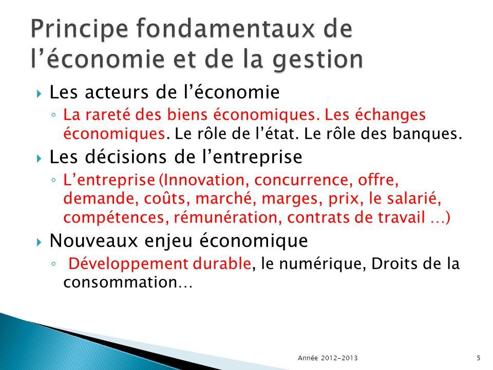 Les acteurs de léconomie La rareté des biens économiques.