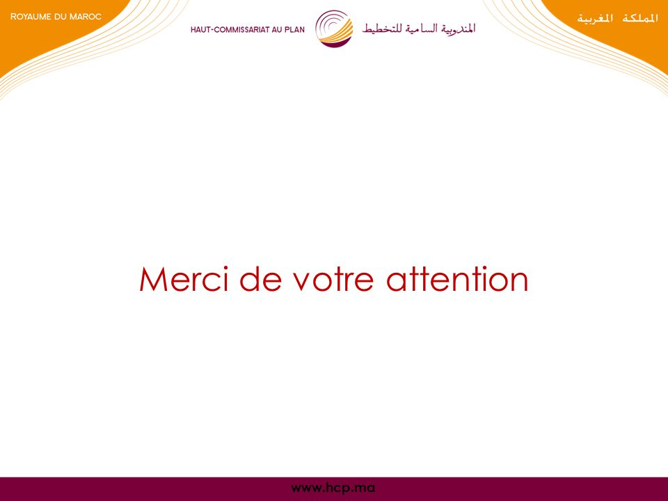 www.hcp.ma Merci de votre attention