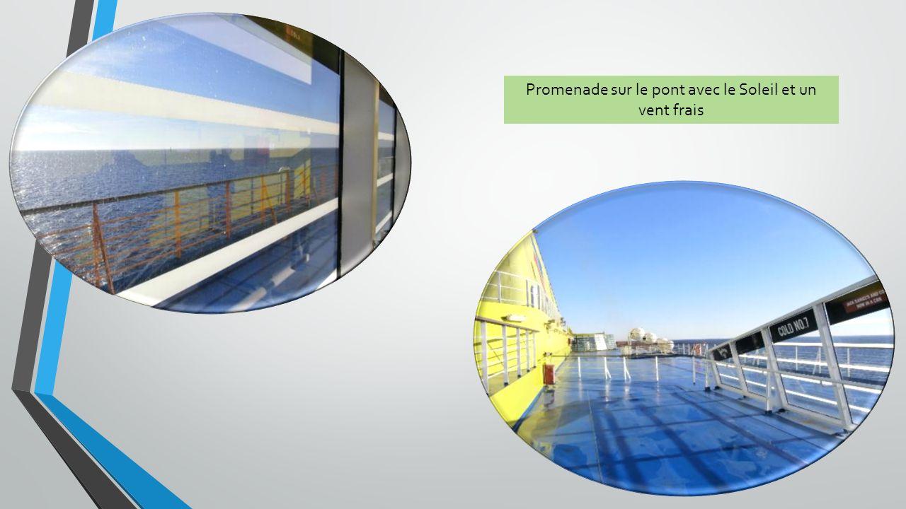 Promenade sur le pont avec le Soleil et un vent frais