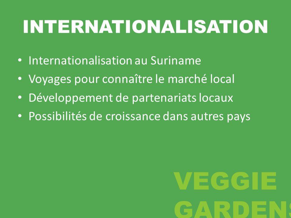INTERNATIONALISATION Internationalisation au Suriname Voyages pour connaître le marché local Développement de partenariats locaux Possibilités de croi