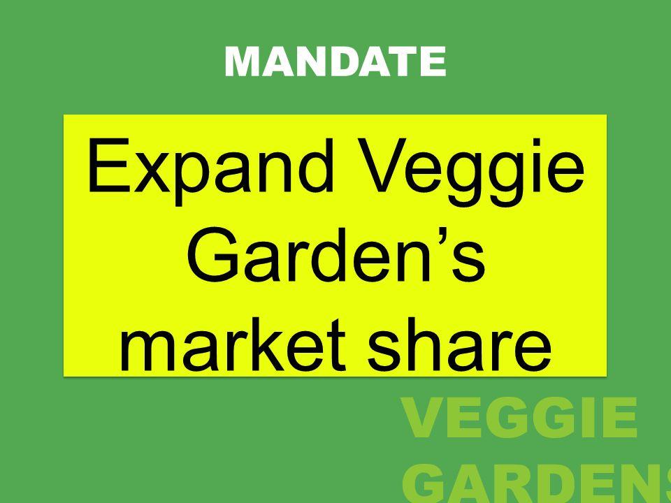 MANDATE Expand Veggie Gardens market share