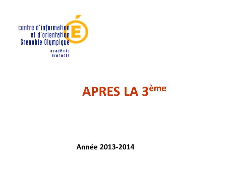 APRES LA 3 ème Année 2013-2014
