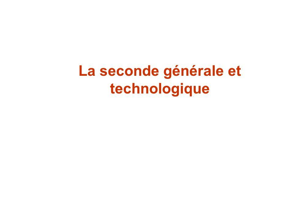 VOIE PRO BAC RO, BEP, CAP La seconde générale et technologique