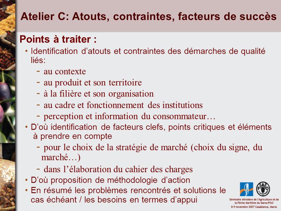 Atelier C: Atouts, contraintes, facteurs de succès Exposés : H.