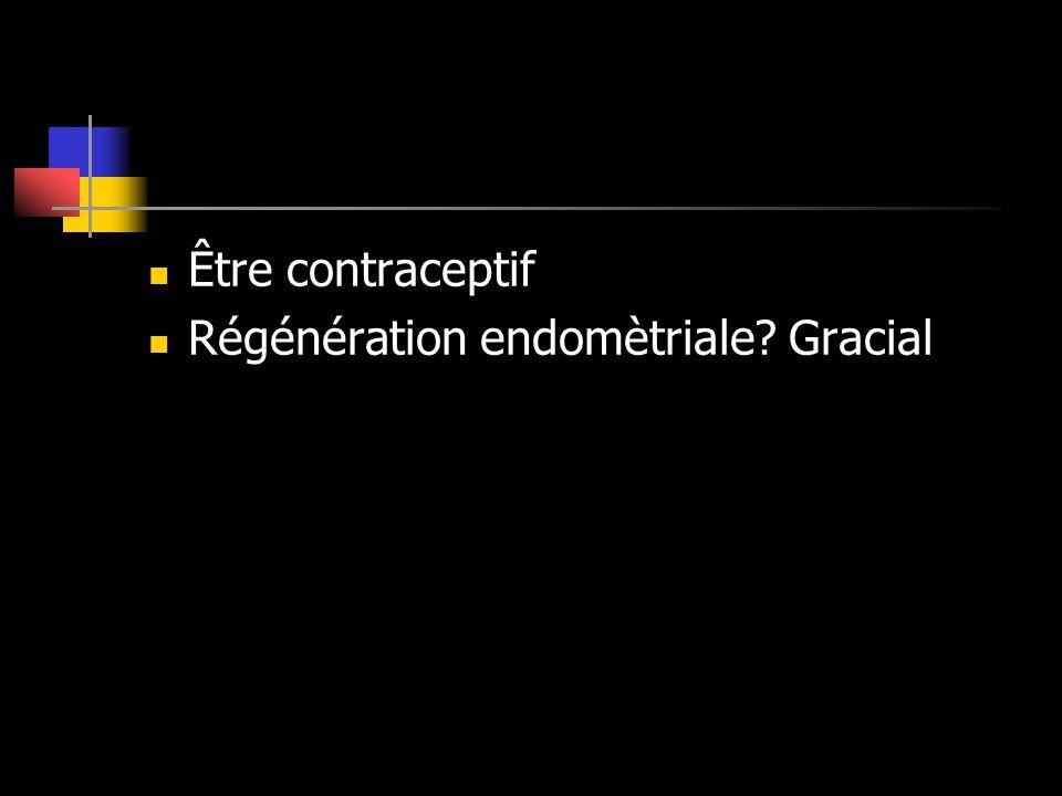 Être contraceptif Régénération endomètriale? Gracial