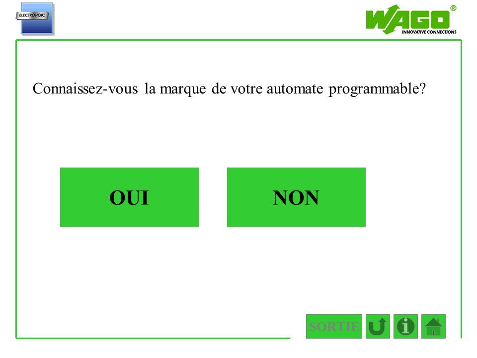 3.API OUI Connaissez-vous la marque de votre automate programmable? NON