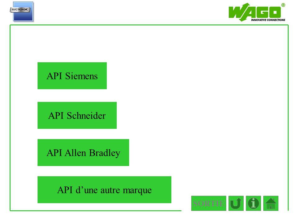 SORTIE 3.2 API Siemens API Schneider API Allen Bradley API dune autre marque
