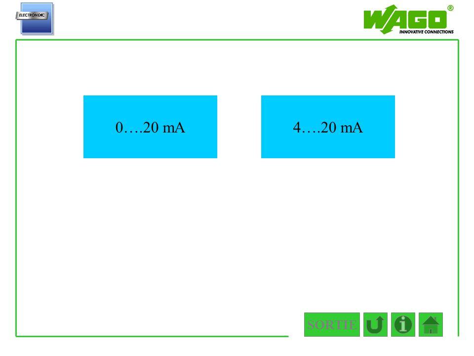 SORTIE 4.4.1 0….20 mA4….20 mA