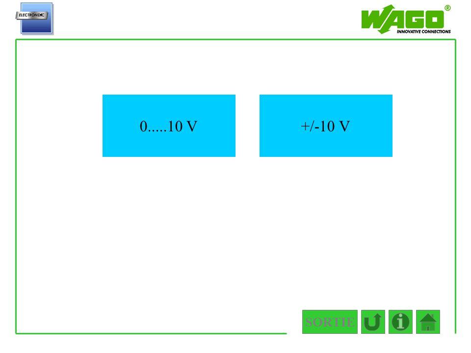 SORTIE 4.4.2 +/-10 V0.....10 V