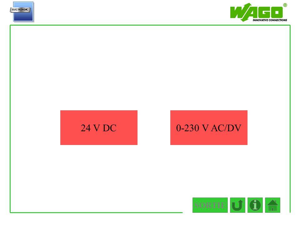 SORTIE 4.5.2.1 24 V DC0-230 V AC/DV