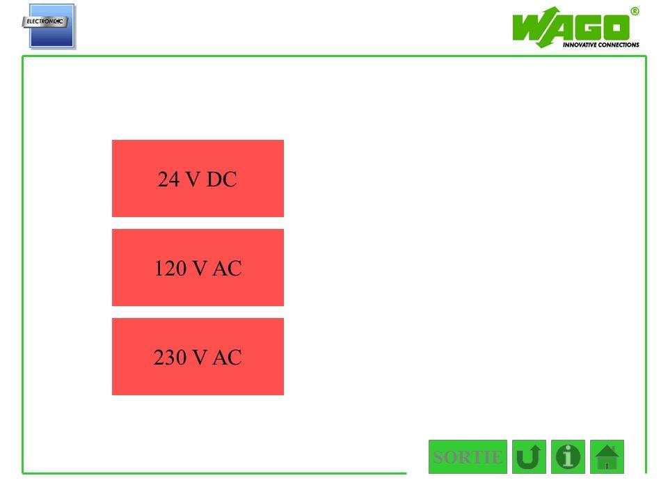 SORTIE 4.5.2.2.1 24 V DC 120 V AC 230 V AC