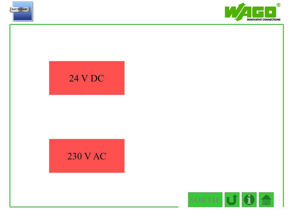 SORTIE 4.5.2.2.2 24 V DC 230 V AC