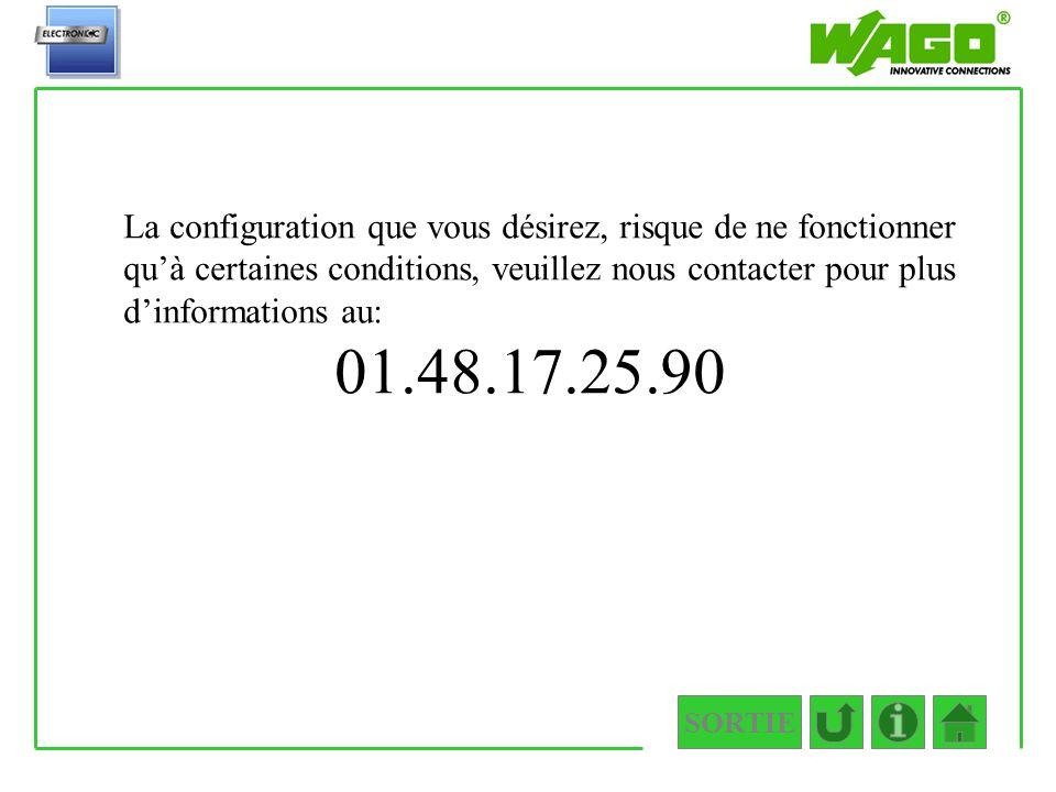 SORTIE 1.2.2.2.1.1 Quelle est la longueur de votre câble de communication? < 20 mètres >= 20 mètres