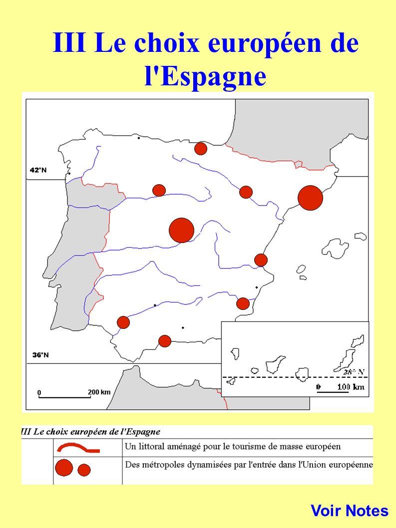 Voir Notes III Le choix européen de l'Espagne