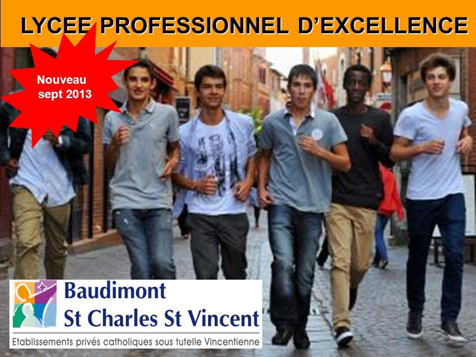 LYCEE PROFESSIONNEL DEXCELLENCE LYCEE PROFESSIONNEL DEXCELLENCE Nouveau sept 2013