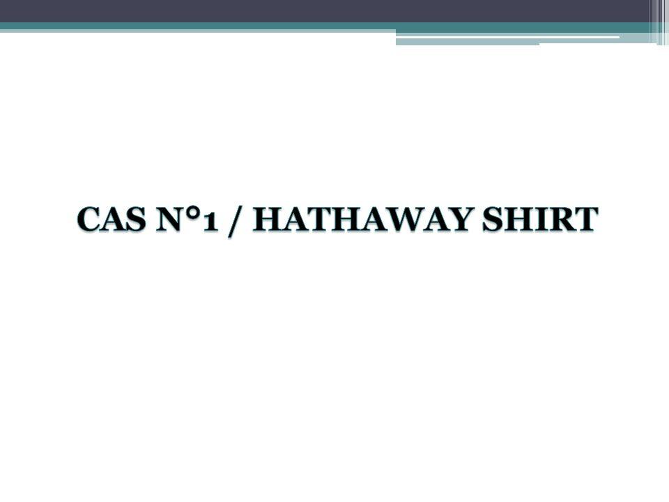 Contexte général de la campagne Le contexte de la campagne célèbre pour les chemises Hataways - lancée par lagence Ogilvy en 1951, sous linspiration de son « patron culte » David Ogilvy – ne se différenciait en rien avec la réalité des années 2010.