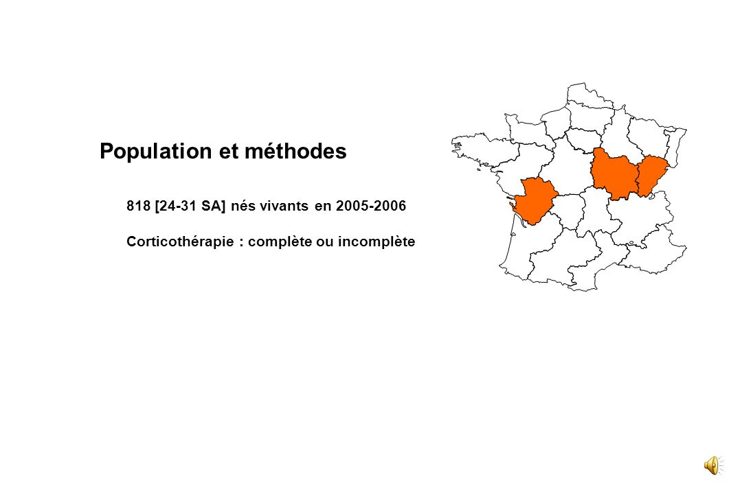 Interprétation de Résultats - Corticothérapie Antenatale - 2 - Choix des Objectif s 3 - Choix du Référent iel et des Indicate urs 4 - Validité des Mes