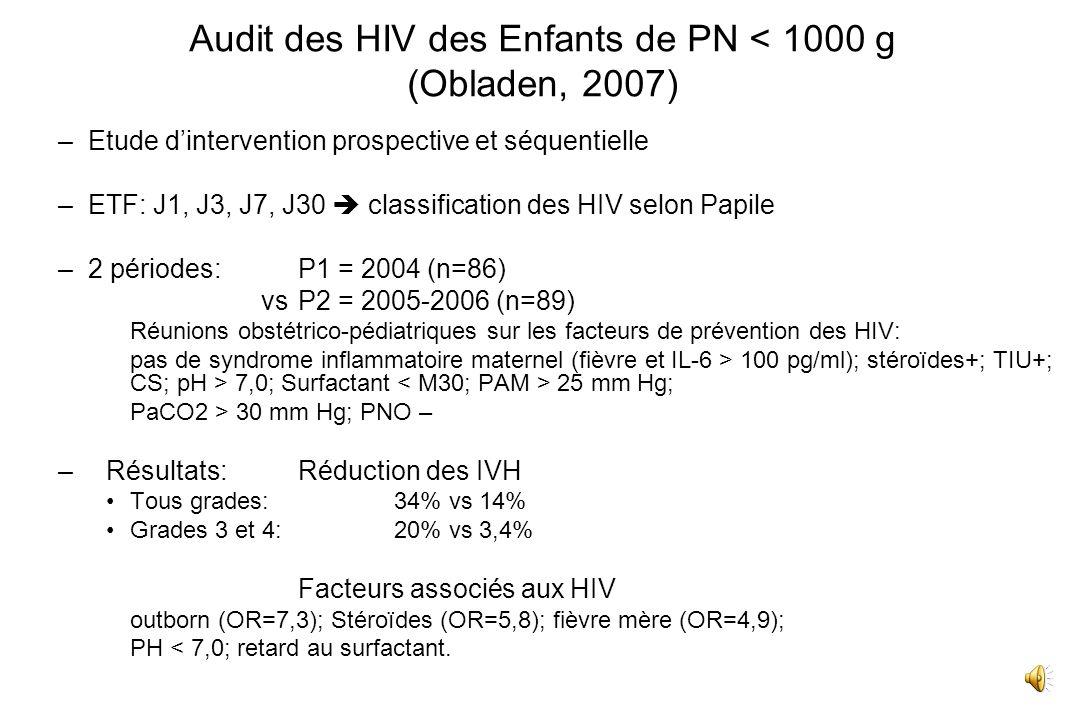 LEPP en Périnatalité (HAS 2005) 1.Comparaison à un référentiel Audit clinique Revue de pertinence des soins Enquêtes de pratique: synagis; probiotique