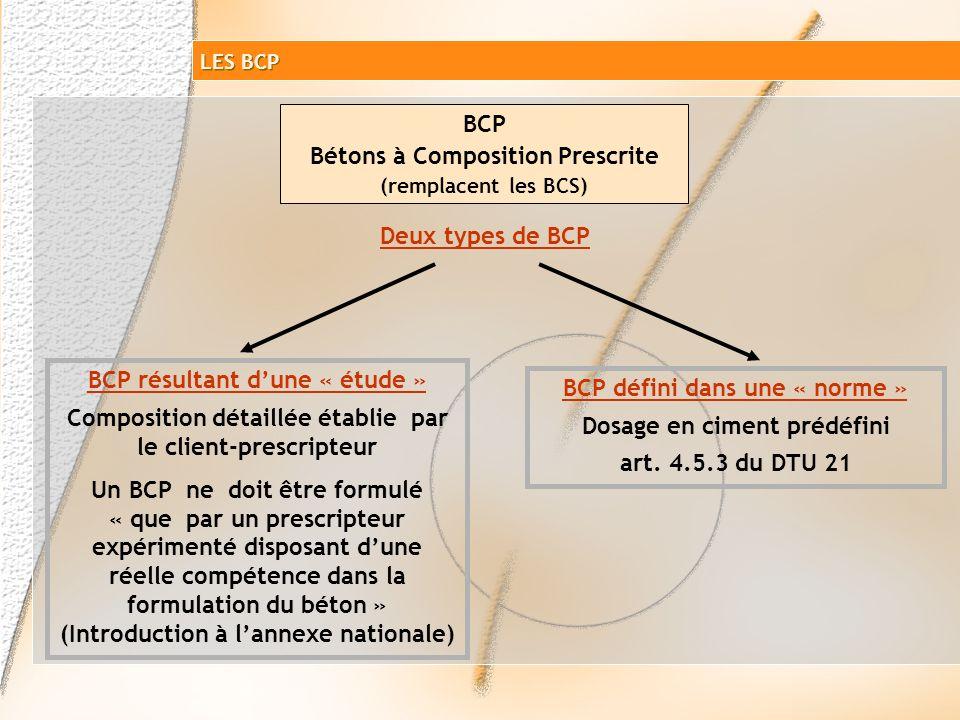LES PRODUITS NF EN 206-1 Béton à Propriétés Spécifiées BCN XP P18-305 BPS NF EN 206-1 résistance Garantie la résistance/producteur Béton à Composition