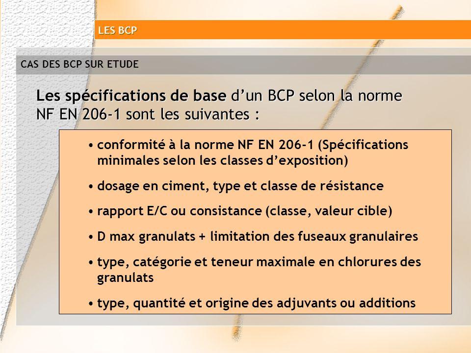 CAS DES BCP SUR ETUDE Un BCP défini à partir dune