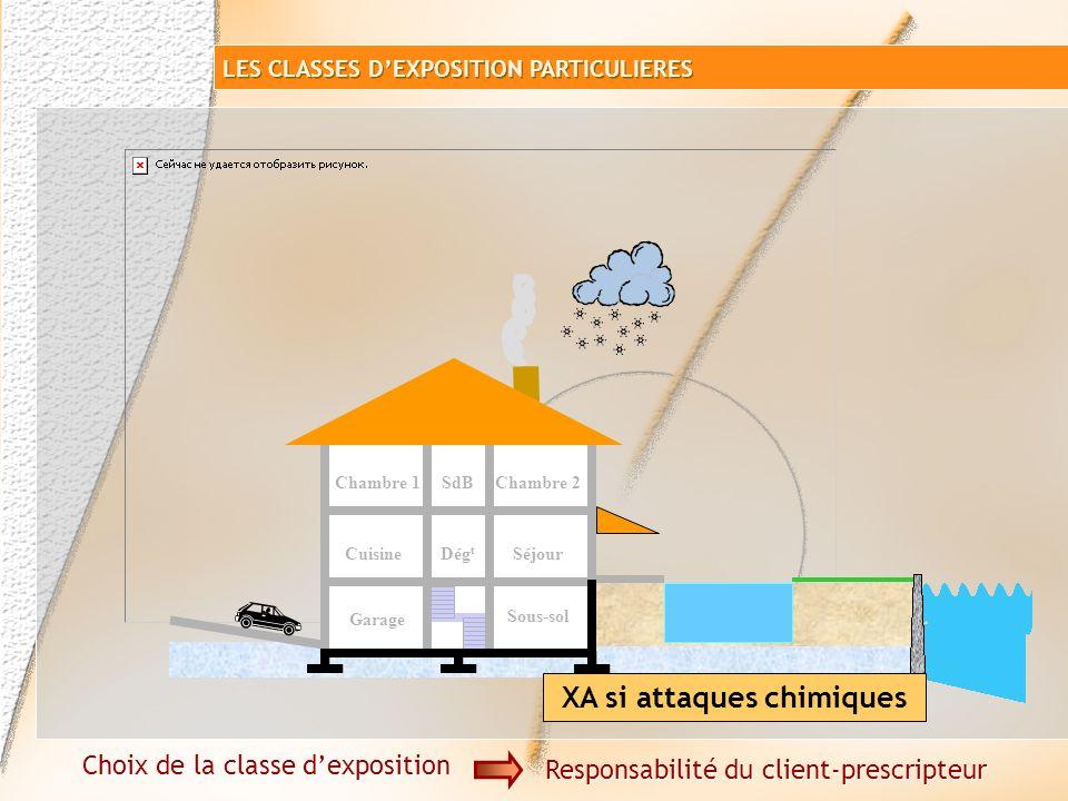 Attaques chimiques XA Béton armé Choix de la classe dexposition Responsabilité du client-prescripteur LES CLASSES DEXPOSITION PARTICULIERES