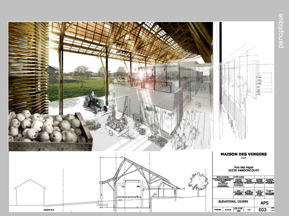 panoptique amo la 15 ème cible AMO SUIVI OPERATIONS Maison des Vergers – CAPM – Vandoncourt Architecte: HAHA BET: SOLARES BAUEN + PROJELEC + SEDIME Ob