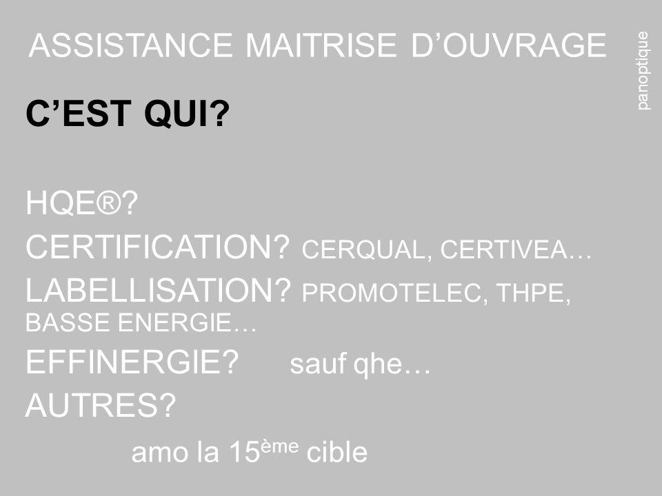 panoptique amo la 15 ème cible ASSISTANCE MAITRISE DOUVRAGE CEST QUI.