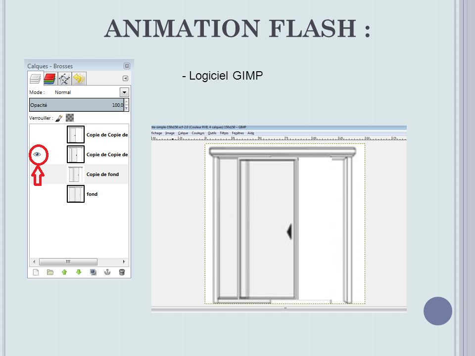 ANIMATION FLASH : - Logiciel GIMP