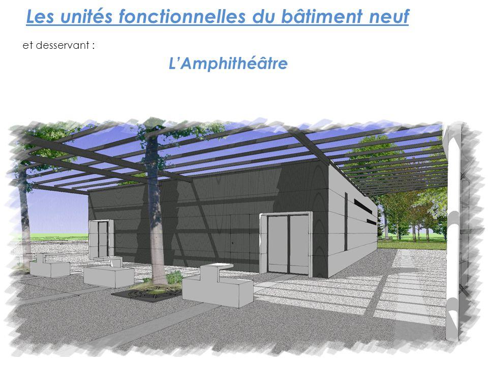 Les unités fonctionnelles du bâtiment neuf et desservant : LAmphithéâtre