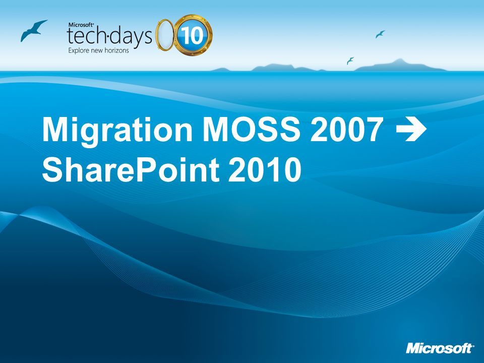 Migration MOSS 2007 SharePoint 2010
