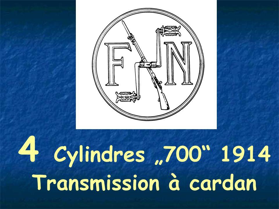 4 Cylindres 700 1914 Transmission à cardan