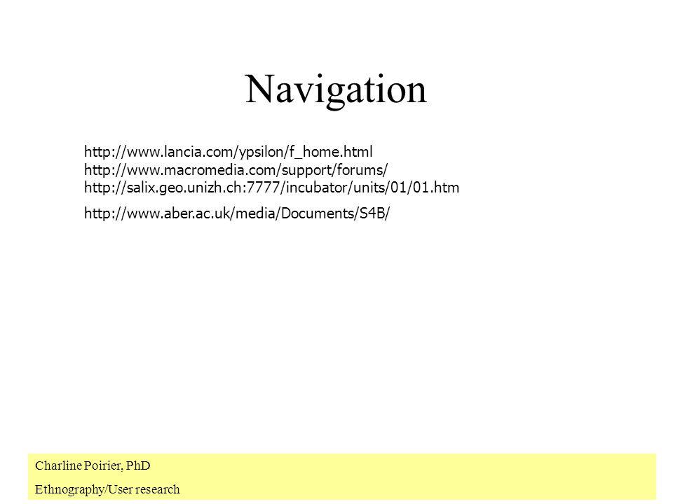 Lexpérience de lutisateur Différentes méthodes révèlent différentes facettes des utilisateurs.