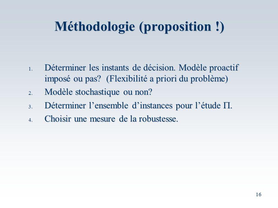 16 1.Déterminer les instants de décision. Modèle proactif imposé ou pas.