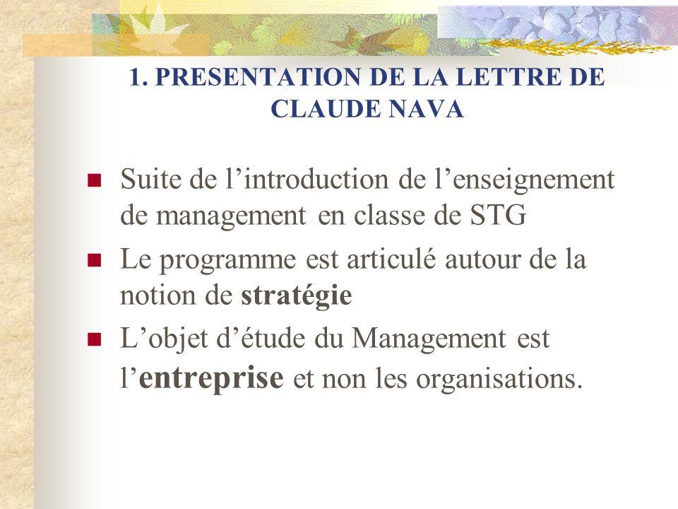 4.ARTICULATION MANAGEMENT DES ORGANISATIONS EN STG-MANAGEMENT DES ENTREPRISES EN BTS A.